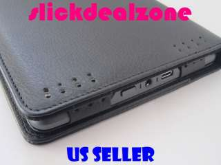 PREMIUM BLACK PU LEATHER CASE COVER FOR  KINDLE TOUCH WIFI & 3G