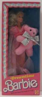 1988 DREAMTIME BARBIE ~ MIB NRFB Pink Teddy Bear #9180