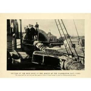 1912 Print Washington Navy Yard Maine Ship Arlington