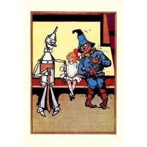 Vintage Art Tin Man, Dorothy and Scarecrow   06133 2