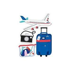 Medium Dimensional Stickers, Travel By Plane Arts, Crafts & Sewing