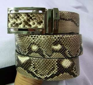 GENUINE PYTHON SNAKE SKIN LEATHER MONEY BELT 1.5 X 48