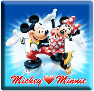 MICKEY MOUSE AND MINNIE LOVE DOUBLE LIGHT SWITCH PLATE