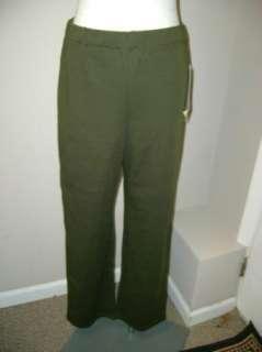 Nina Leonard Flat Front Pull on Pants XS NWT