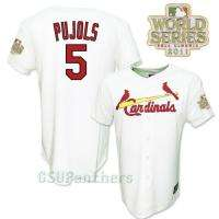 Albert Pujols 2011 St Louis Cardinals World Series Jersey YOUTH SZ (M