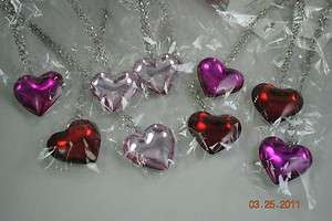 wholesale lot 9 valentine puffy heart necklace earrings sets f/s
