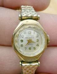 CROTON RELIANCE ANTIQUE LADIES CROTON 17 JEWEL WATCH # 47298
