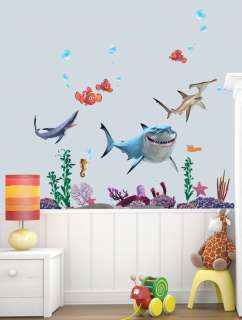 NEW FINDING NEMO KIDS ROOM Adhesive Removable Wall Decor Accents