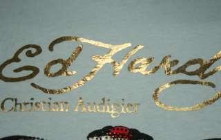 ED Hardy Mens Muscle Tank Blue Dagger Head Dragon Shirt