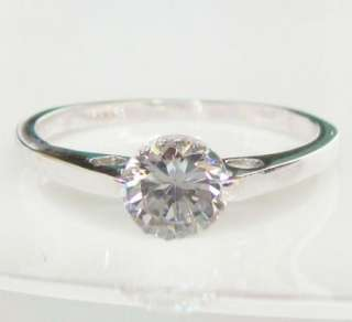 52CT Round 18K white gold GP swarovski crystal Engagement promise Ring