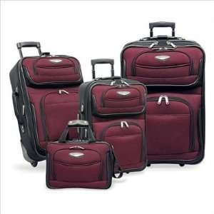 Amsterdam 4 piece Luggage Set , Color Red (TS 6950)