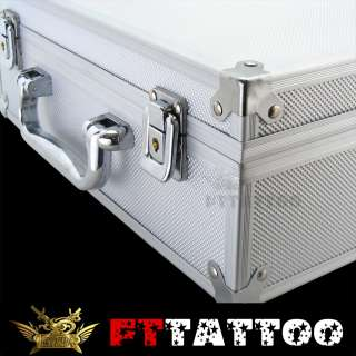 Great quality White Tattoo carrying case with lock keys