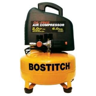 Bostitch 2 HP (Peak) 6 Gallon Oil Free Pancake Air Compressor CAP2060P