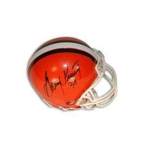 Greg Pruitt Autographed Cleveland Browns Mini Football