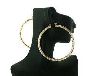 Basketball Wives POParazzi Hoop Earring Gold LXE16G 70mm