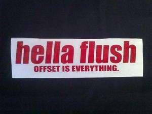 hella flush Decal Sticker Red JDM EG EK EP FD DA DC