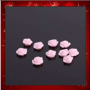 Pink Rose Resin Nail Art Design DIY Sticker NEW 10 Pcs B0011 Beauty