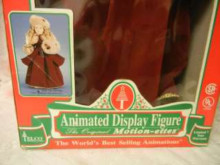 Vintage Animated Telco MOTION ette Electric Christmas Victorian Girl