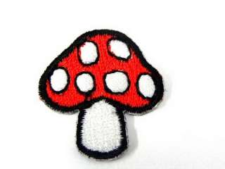 LITTLE MUSROOM DOT IRON ON PATCH EMBROIDERED I365