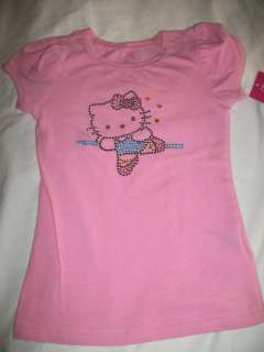 NWT NEW GIRLS HELLO KITTY SHIRT 2T 3T 4 5 6x