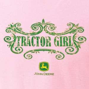 Womens John Deere Pink Tractor Girl T shirt