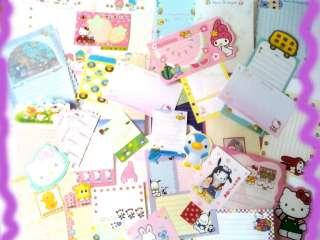 Sanrio Lot 50 Sheets Hello Kitty Melody Disney Stationery/Stat
