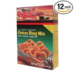 Hodgson Mill Dons Onion Ring Mix, 12 Ounce Boxes (Pack of 12)