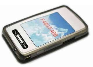 Smoke Black Gel skin silicone case cover for Samsung F480 F488