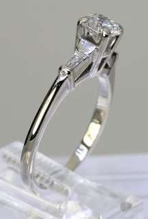 CLASSIC .68CT ROUND DIAMOND & TAPERED BAGUETTE 14K WHITE GOLD