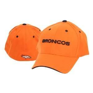 Denver Broncos Flex Fit Name Baseball Hat   Orange