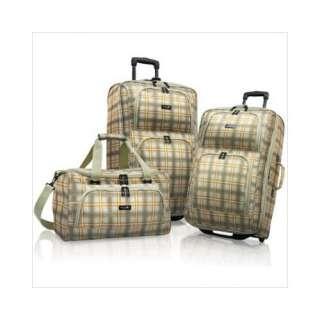 Caribbean Joe Montego 3 Piece Luggage Set   Sandstone