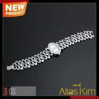 Shape Grain Band Silver Ellipse Alias Kim Ladies Girls Bracelet