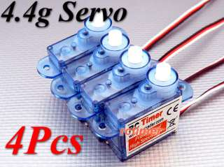 4Pcs RC Sub Micro 4.4g Servo For Airplane Helicopter