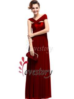 Fabulous Pleated Empire Line Long Formal Evening Dresses 09464
