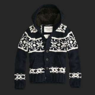 Abercrombie & Fitch Otis Ledge Wool Blend Sweater Hoodie Coat Mens $