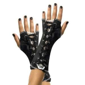 Black & White Lace Up Child Glovettes Toys & Games