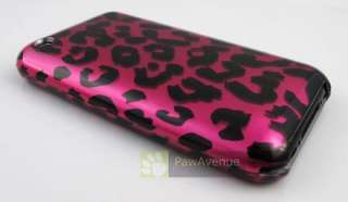 PINK LEOPARD Phone Cover Hard Shell Case iPhone 3G 3Gs