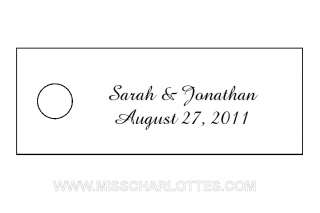 300 Personalized Wedding Small Rectangle Gift Tag Favor