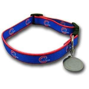 Chicago Cubs Dog Puppy Pet Collar Medium / Large 16 26