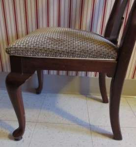 Ethan Allen Georgian Court Solid Cherry Queen Anne Chair 6211 w. 297