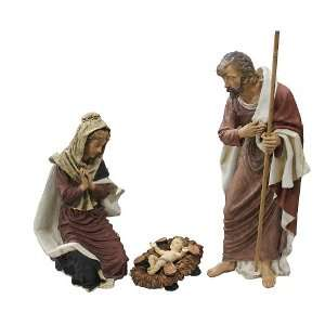 Piece Outdoor Holy Family Nativity Christmas Yard Art Statue Set