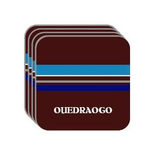 Personal Name Gift   OUEDRAOGO Set of 4 Mini Mousepad Coasters (blue