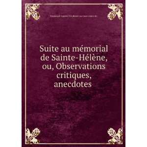 Suite au mémorial de Sainte Hélène, ou, Observations