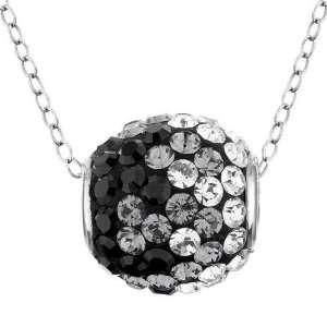 Swarovski Crystal Elements Black Ombro Spin Pendant Jewelry