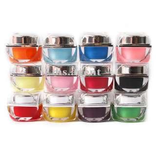 12 color pure solid uv gel nail art for uv lamp uv pen uv gel system