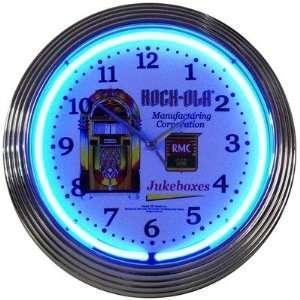 Neonetics Rock Ola Blue Neon Clock Rock Ola Blue Neon