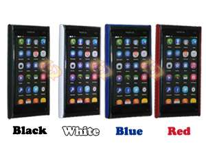 pcs Color Rubber Cover Case + LCD Protector For Nokia N9