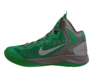 Nike Zoom Hyperenforcer Lucky Green Silver Grey Mens Basketball Shoes