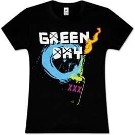Green Day Molotov Junior Girlie Shirt SM, M, LG, XL New
