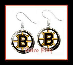 BOSTON BRUINS ** NHL Hockey New Dangle EARRING SET